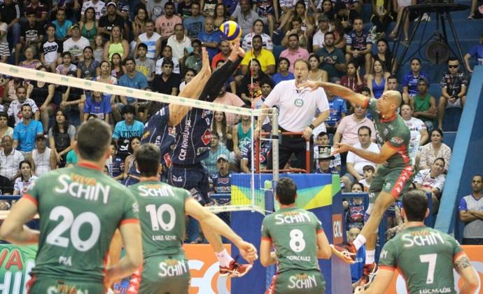 Taubaté Campinas vôlei Superliga semifinal Abaeté jogo 1 (Foto: Vôlei Brasil Kirin/ Divulgação)