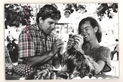 Com Reginaldo Faria em cena de 'A menina do lado', de 1986 (Foto: Arquivo)