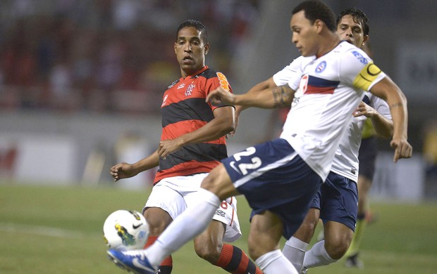 Cleber Santana, Flamengo e Bahia (Foto: Mauricio Val / Vipcomm)