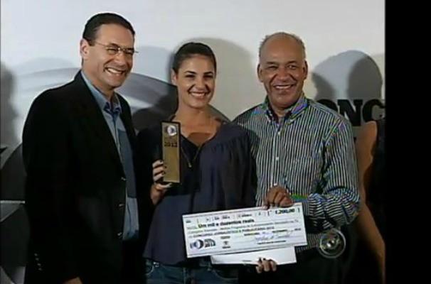 TV TEM foi vencedora de duas categorias do Concurso Jornalístico e Publicitário 2012 da Prefeitura de Sorocaba (Foto: Reprodução / TV TEM)