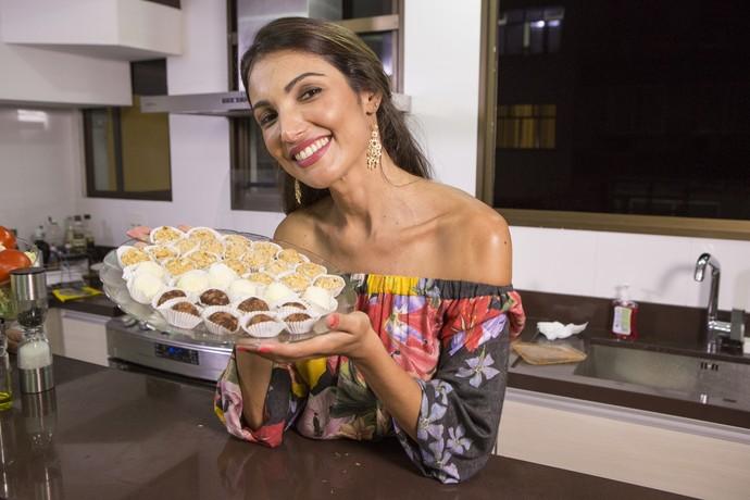 Patrícia Poeta conta que brigadeiro é seu doce favorita  (Foto: Felipe Monteiro/ Gshow)