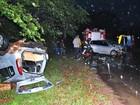 Mulher morre e cinco ficam feridos em acidente no interior do Paraná