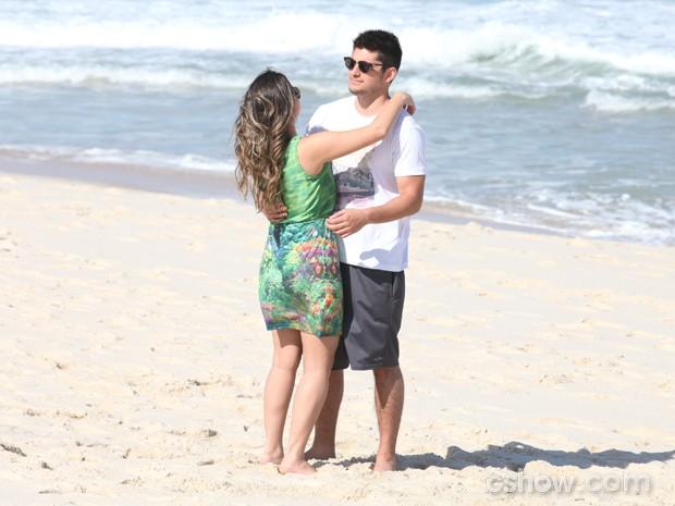 André pede Bárbara em casamento (Foto: Pedro Curi / TV Globo)