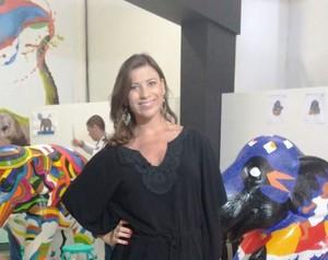 """Camille Reis apostou em """"pretinho nada básico"""" (Foto: RBS TV/Divulgação)"""