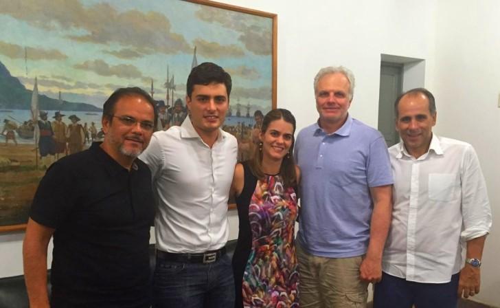 Hayrton Almeida, Camilo Simões, Ana Paula Vilaça, David Neeleman e Luís Eduardo Antunes