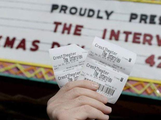 Ingressos para o filme 'A entrevista'; Sony havia cancelado lançamento, mas voltou atrás após duras críticas, inclusive de Obama (Foto: Reuters)