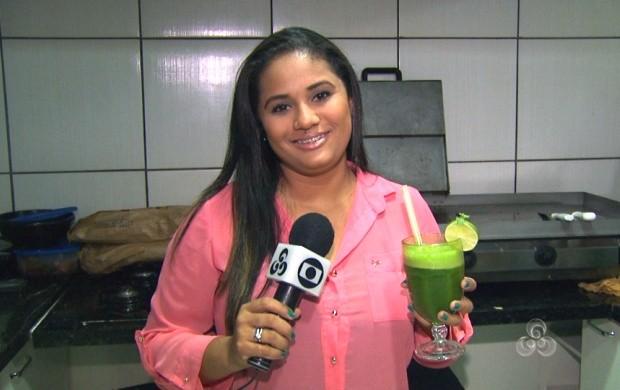 Roraima TV ensina receita fácil e saudável de suco verde (Foto: Roraima TV)