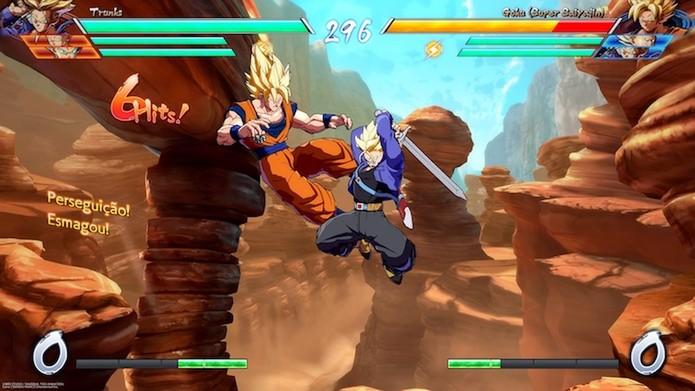 Dragon Ball FighterZ: modo online permite disputar partidas casuais e ranqueadas (Foto: Reprodução / Victor Teixeira)