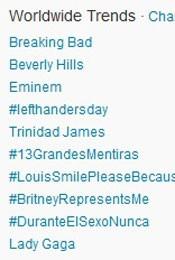 Trending Topics no Mundo às 17h16 (Foto: Reprodução/Twitter.com)