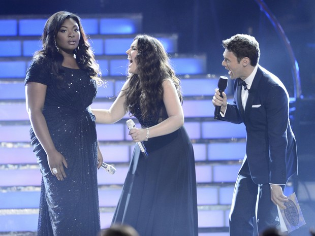Candice Glover, vencedora da 12ª temporada do 'American Idol' em Los Angeles, nos Estados Unidos (Foto: Phil McCarten/ Reuters)