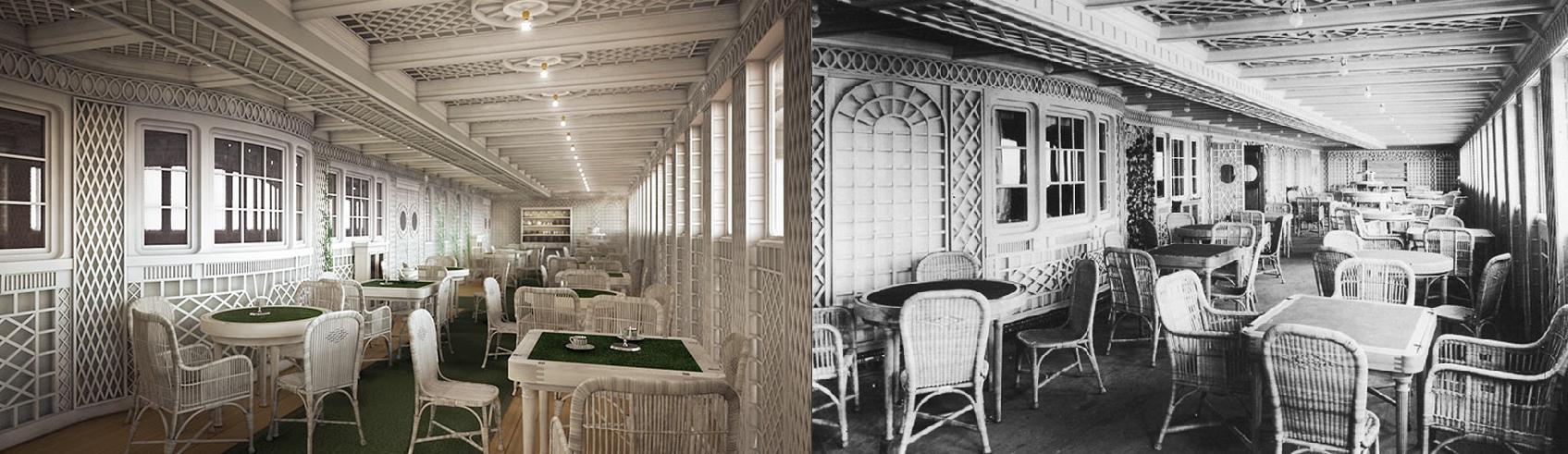 O Café Parisien, também reservado aos membros da primeira classe (FOTO: DIVULGAÇÃO)