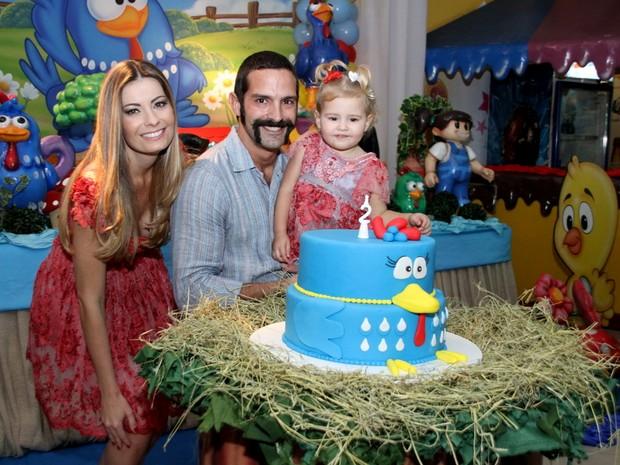 Iran Malfitano comemora aniversário da filha (Foto: Daniel Pinheiro/R2 - Divulgação)