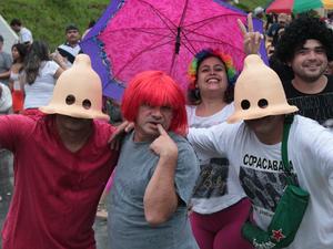 Humor foi essencial para os foliões do Galo de Manaus (Foto: Tiago Melo/ G1 AM)