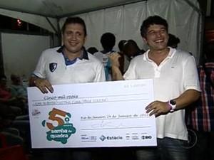 Paulo Oliveira Gustavo Clarão Alma do Samba (Foto: Reprodução/Globo Rio)