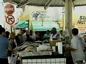 Praça do Peixe é um dos locais de comercialização mais tradicionais de Petrolina, PE  (Foto: Reprodução/TV Grande Rio)