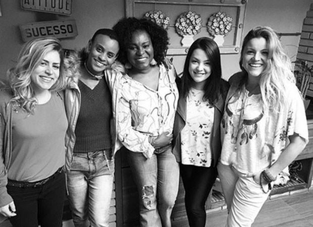 Luciana Andrade, Aline Wirley, Karin Hils, Li Martins e Fantine Tho (Foto: Reprodução)