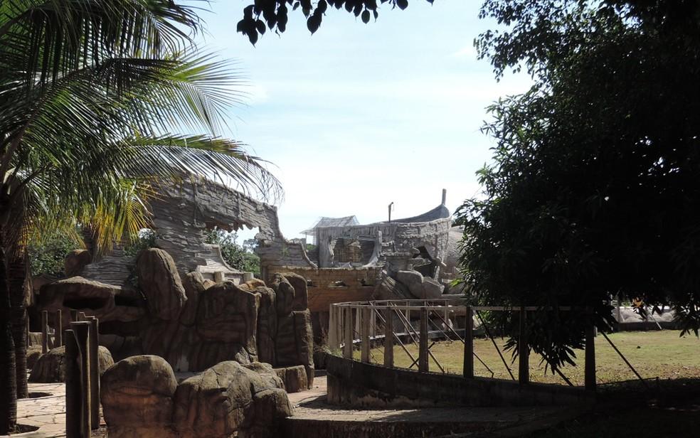 Projeto que abrigará várias atrações em um só local está em construção (Foto: Renata Fernandes/G1)