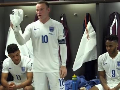 Wayne Rooney, discurso, vestiário, Inglaterra (Foto: Reprodução/SporTV)