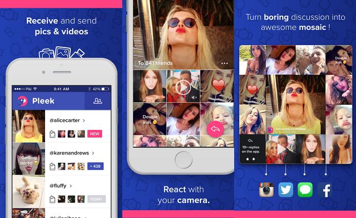 Experimente a rede social em usa imagens e vídeos para comunicação com o Pleek (Foto: Divulgação/AppStore)