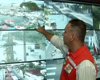 TV Rio Sul terá acesso as câmeras de monitoramento de Angra dos Reis (Foto: Reprodução: RJTV 1ª Edição)