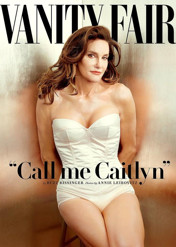 """Bruce Jenner, agora Caitlyn Jenner, é a capa da revista """"Vanity Fair"""" de junho (Foto: Divulgação)"""