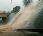 VÍDEO: temporal faz cascata em viaduto no DF (Alessandro Rocha/Arquivo Pessoal)