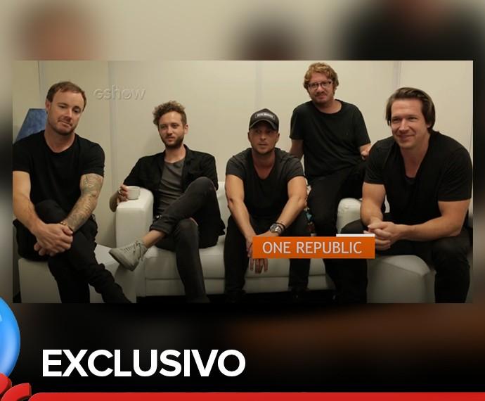 OneRepublic em entrevista exclusiva no Rock in Rio 2015 (Foto: Gshow)