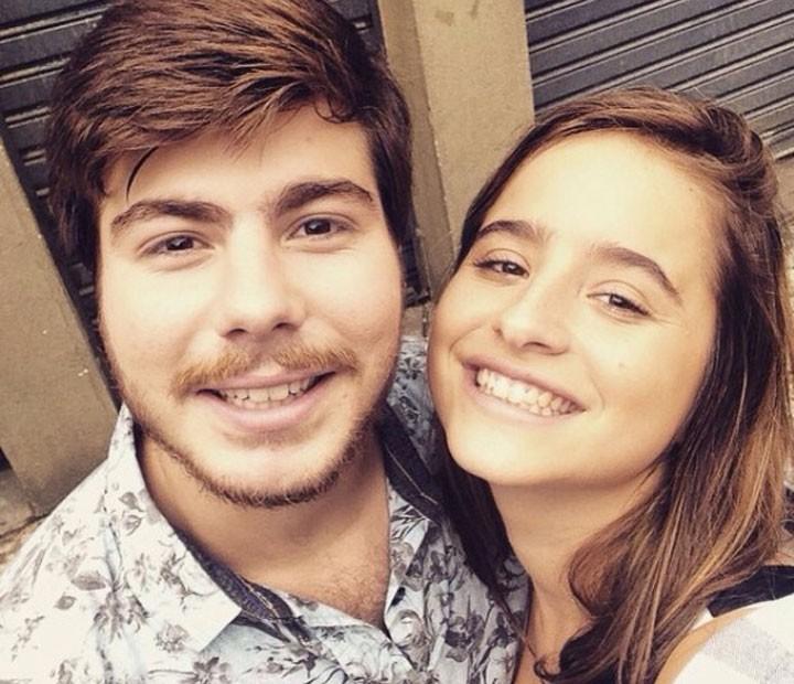 Manuela e Thales nos bastidores de Malhação (Foto: Arquivo Pessoal)