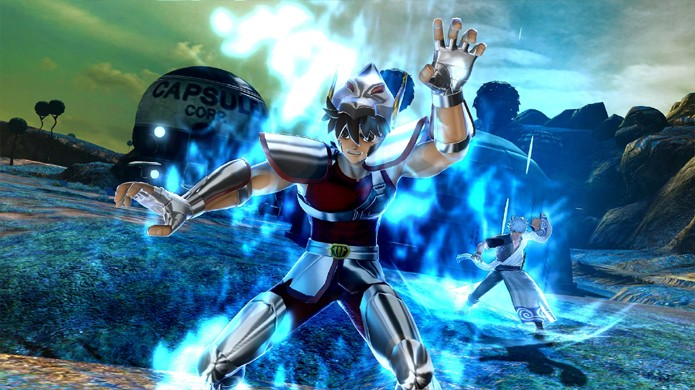 A ideia de Seiya lutando em Namek parece absurda, mas J-Stars Victory VS+ torna possível (Foto: Reprodução/Game Idealist)