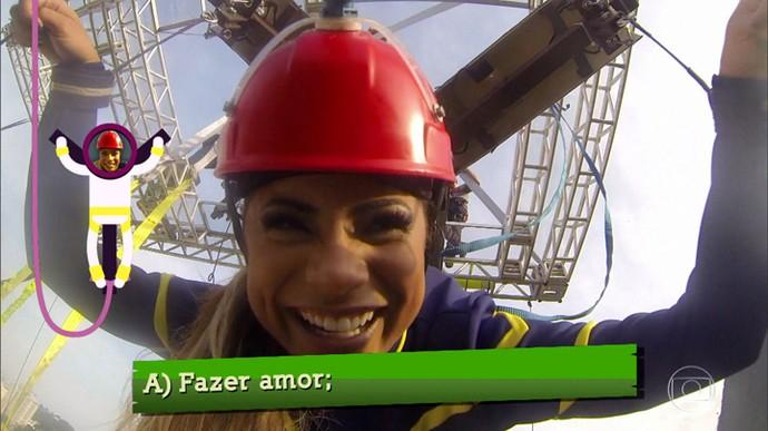 Lexa e Guimê comemoram ponto! (Foto: TV Globo)