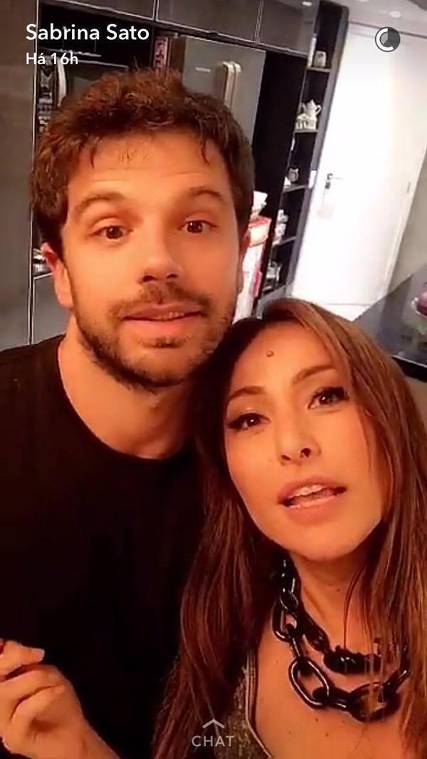 Sabrina Sato e Duda Nagle (Foto: Reprodução / Snapchat)