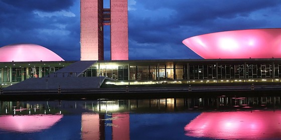 Congresso Nacional em Brasília. Só dez em cada 100 parlamentares no Brasil são mulheres (Foto: Getty Images)