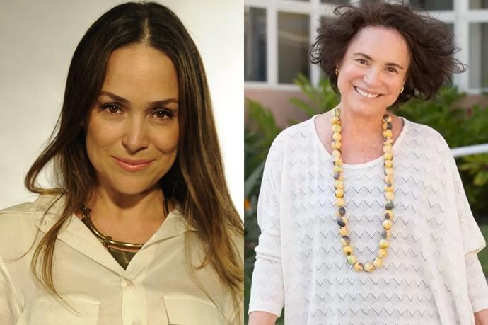 Mãe e filha na vida real vão interpretar o mesmo personagem (Foto: Gshow)