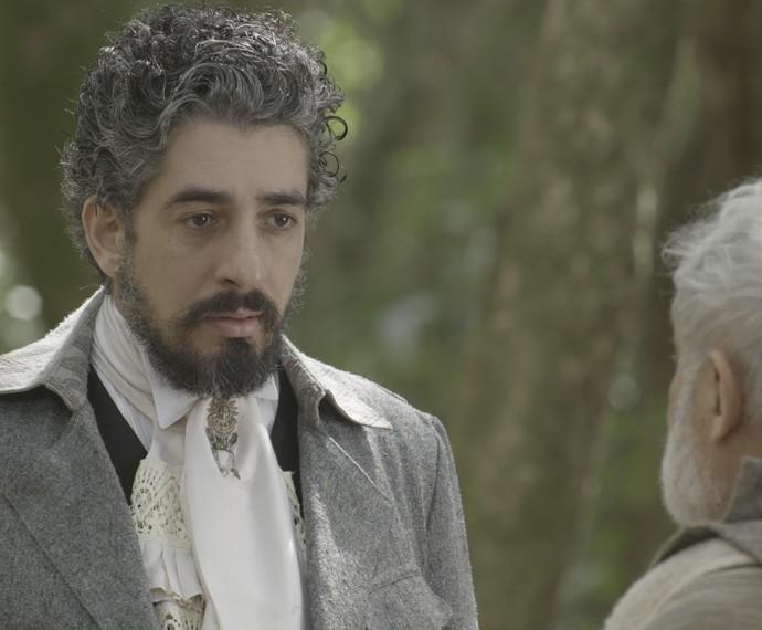 Ariel fica surpreso com anúncio feito pelo Mestre (Foto: TV Globo)