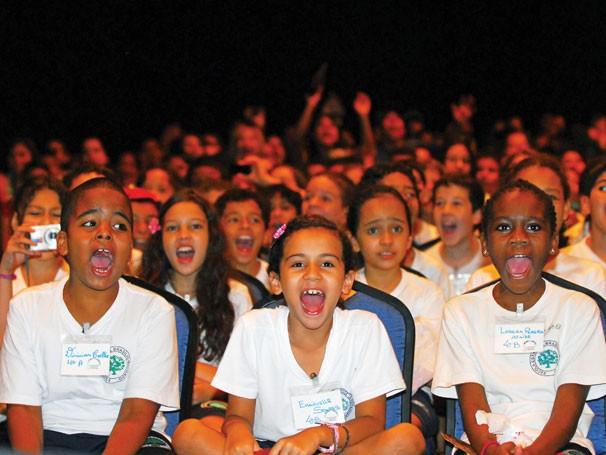 Alunos de dez escolas de São Paulo assistem ao Festival Risadaria (Foto: Divulgação)