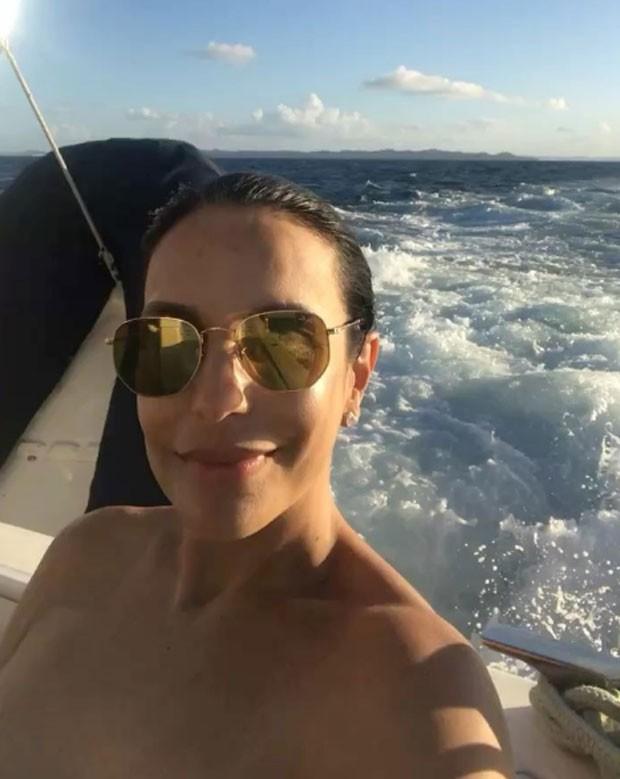 Ivete: passeio de barco (Foto: Reprodução Instagram)