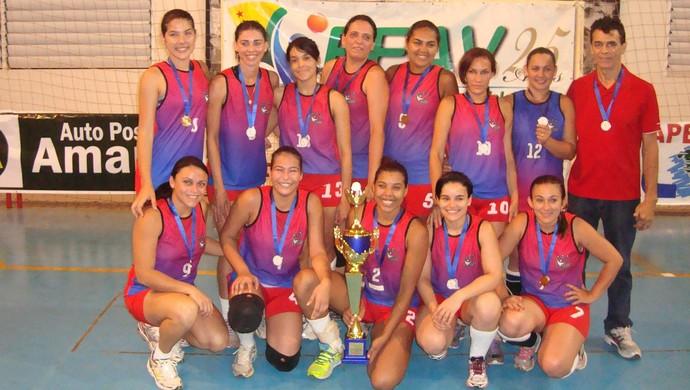 Jotas Academia, campeã acreana de vôlei adulto feminino (Foto: Divulgação/Feav)