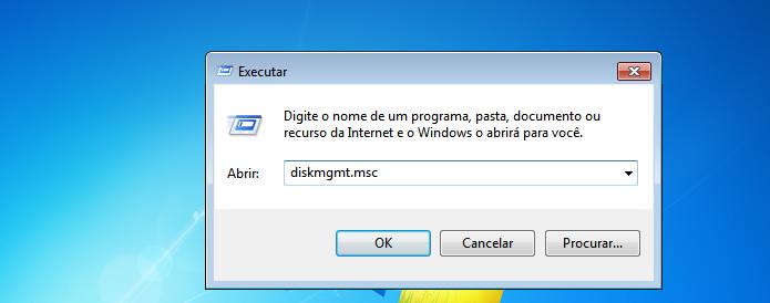Executando o utilitário de Gerenciamento de disco do Windows (Foto: Reprodução/Edivaldo Brito)