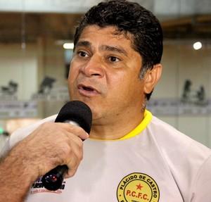 Célio Ivan, técnico do Plácido de Castro (Foto: João Paulo Maia)