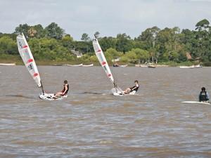 Praias do Lami e Belém Novo, na Zona Sul de Porto Alegre, estão aptas para o banho (Foto: Francielle Caetano/PMPA)