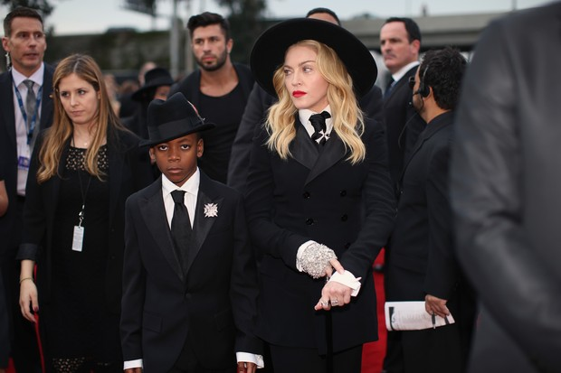 [Grammy] Madonna e David Banda (Foto: Getty Images/Agência)