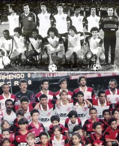 Montagem Flamengo 1981 e 1992 (Foto: Montagem sobre foto de arquivo)