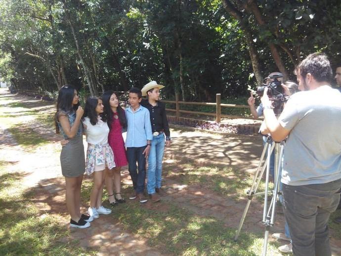 Crianças do 'The Voice Kids' gravam material em Uberlândia (Foto: Divulgação)