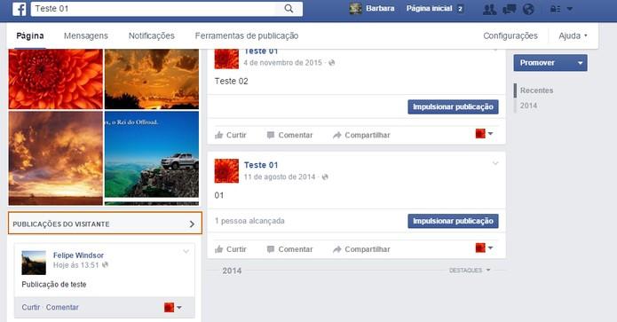 Banir um usuário que não curtiu a página pelo comentário (Foto: Reprodução/Barbara Mannara)
