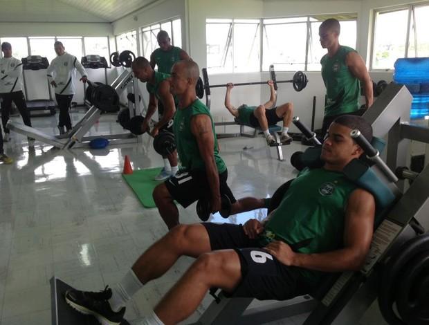 Coritiba se reapresenta e faz musculação no CT da Graciosa (Foto: Divulgação / Site oficial do Coritiba)