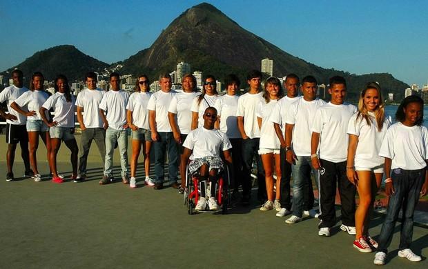Atletas na Lagoa no projeto memoria olimpica (Foto: Marcello Garrido)