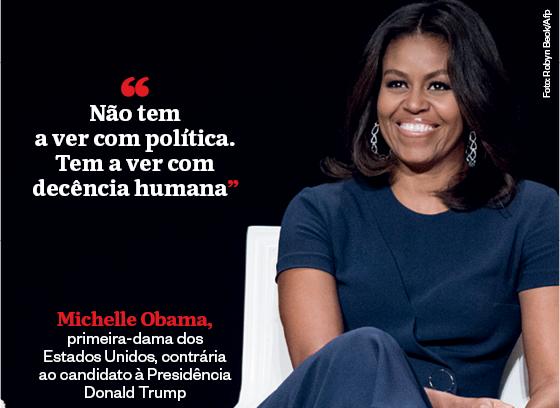 Frases que resumem a semana | Michelle Obama  (Foto: Robyn Beck/Afp)