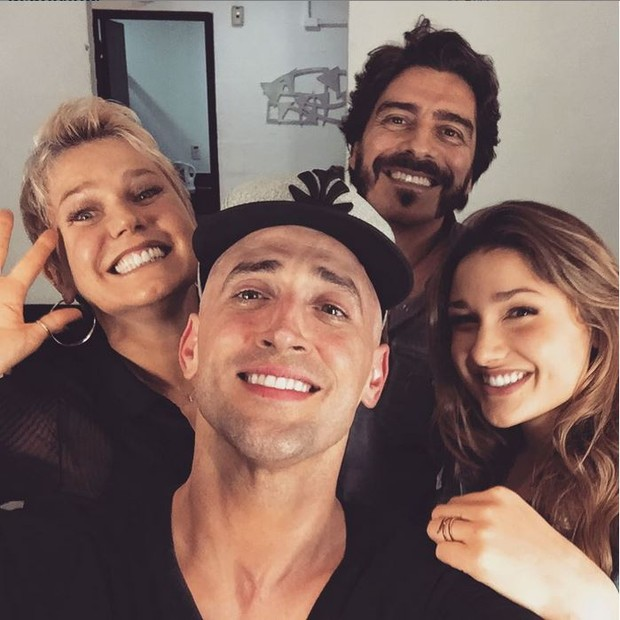 Xuxa, Paulo Gustavo, Sasha e Junno (Foto: Instagram / Reprodução)