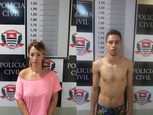 Mãe e filho foram presos após bicicleta ser encontrada com eles em Santos (Foto: Polícia Civil / Divulgação)