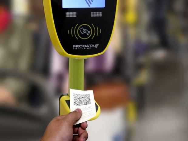 Sistema com QR Code começou a ser testado em Campinas nesta sexta (Foto: Transurc)